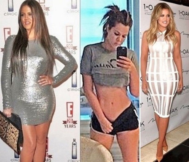 ... /after photo of her weight transformation ahead of Revenge Body show